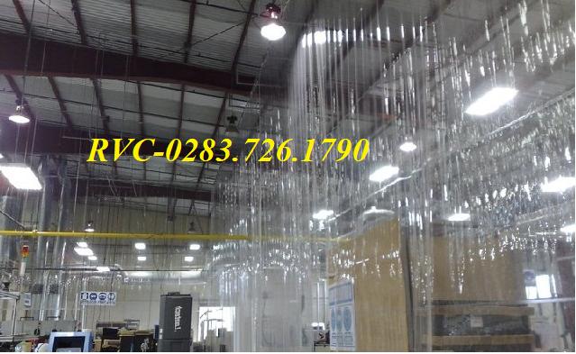 Màn nhựa pvc khổ lớn ngăn bụi cho nhà xưởng