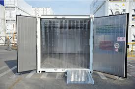 Ứng dụng rèm ngăn lạnh cho kho cấp đông của màng nhựa pvc dẻo